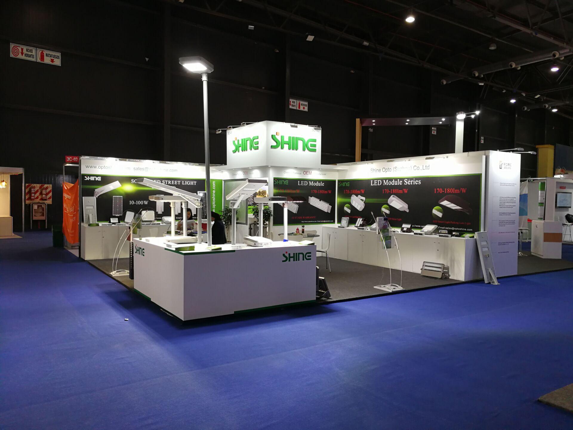 LED solar street light/street light/module SHINE met on Biel-Light fair